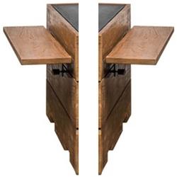 Zijtafel set teak voor HC 60x60 - 60x80