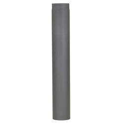 Meter enkelwandig deel kachelpijp tbv aansluiting kachel op dakdoorvoer