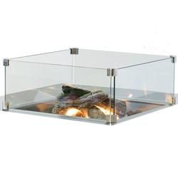 CS glas inbouwbrander rechthoek 70x33cm