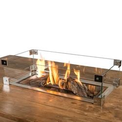 HC glas inbouwbrander rechthoek 100x33cm