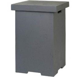 Vierkante bijzettafel gastank antraciet