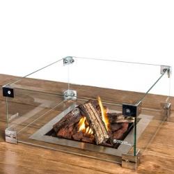 HC glas inbouwbrander vierkant 41x41cm