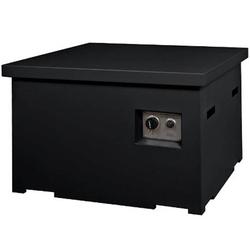 Deksel Cocoon Table vierkant zwart
